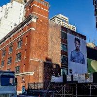 billboard reklamowy na ścianie